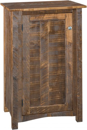 Amish Rough Mission One Door Jelly Cupboard
