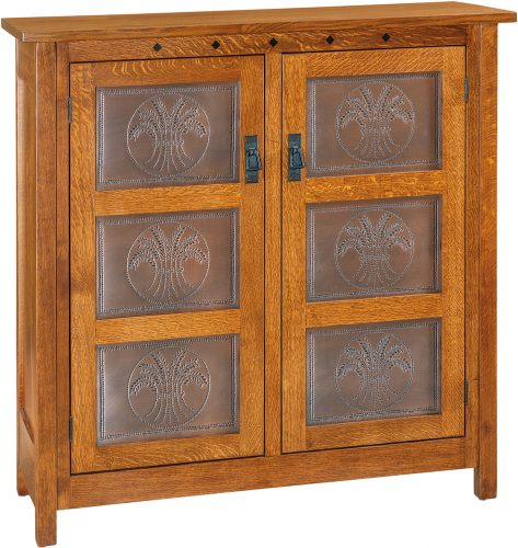 Amish Dynasty Mission Two Door Pie Safe