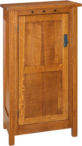 Amish Dynasty Mission One Door Jelly Cupboard