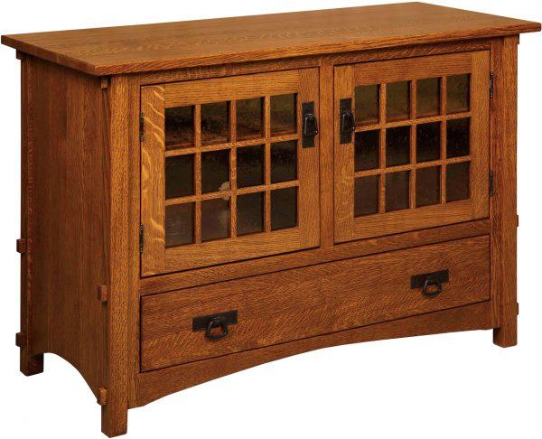 Amish Harmony Mission Two Door Plasma TV Cabinet