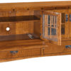 Amish Dynasty Mission TV Cabinet Open Detail