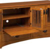 Amish Display Mission TV Cabinet Open Detail