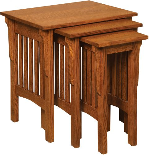 Amish Corbel Mission Nesting Table Set