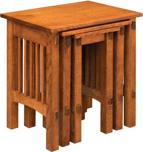 Amish Deluxe Mission Nesting Table Set