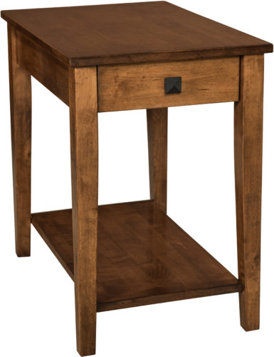Amish Wide Carriage End Table