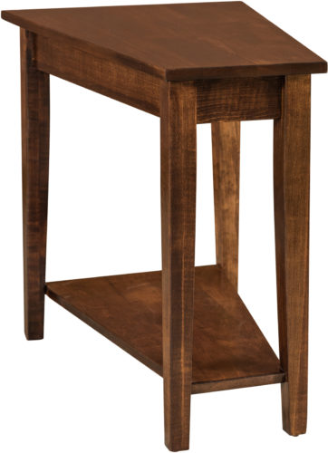 Amish Carriage Wedge End Table