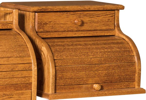 Amish One Drawer Roll Top Bread Box