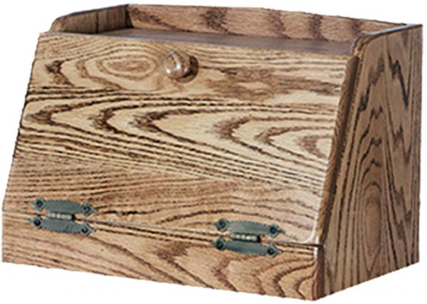 Amish Bread Box with Plain Front