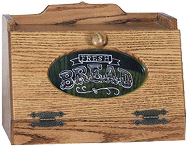 Amish Glass Insert Bread Box