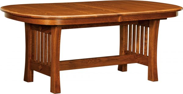 Amish Arts and Crafts Trestle Dining Table