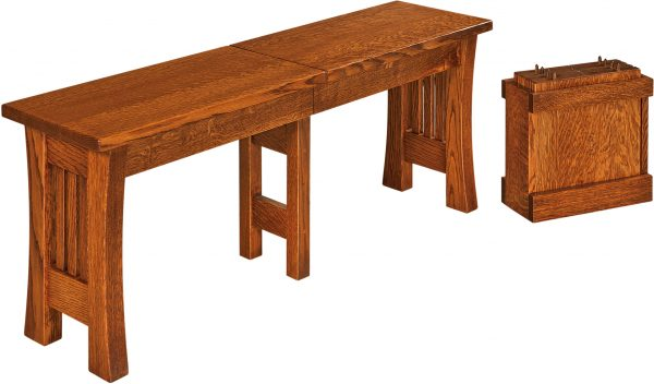 Amish Arts and Crafts Dining Bench
