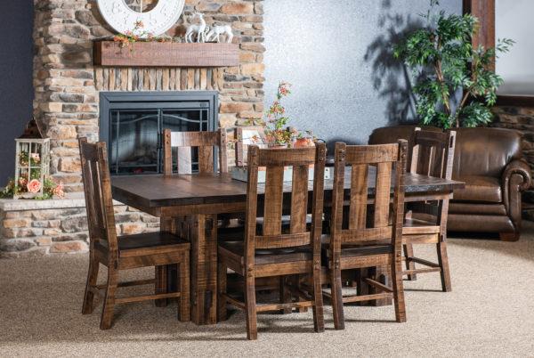 Amish El Paso Trestle Table Dining Set