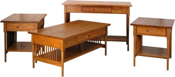 Spindle Shaker Coffee Table Set
