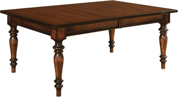 Amish Harvest Leg Dining Room Table