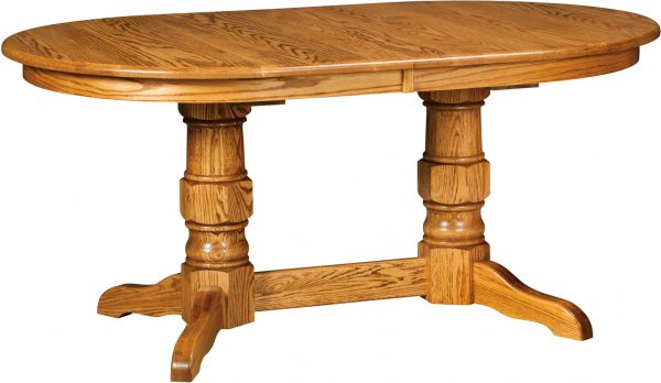 Amish Preston Double Pedestal Dining Table