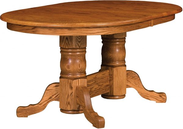 Amish Traditional Double Pedestal Dining Table