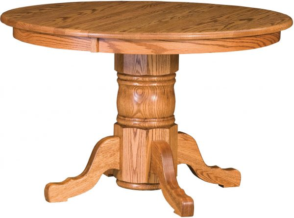Amish Traditional Single Pedestal Table