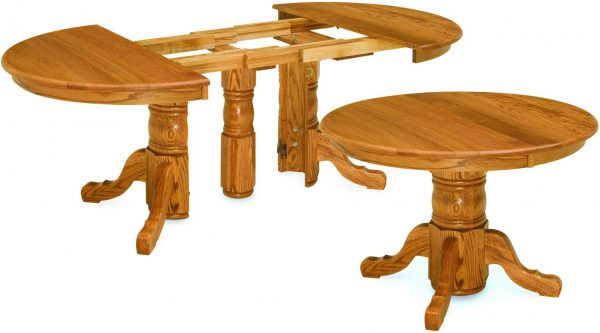 Amish Split Pedestal Dining Tables