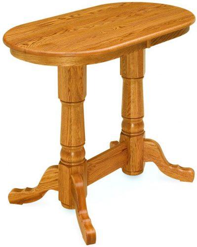 Amish Double Pedestal Pub Table