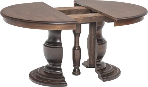 Amish Ziglar Split Pedestal Dining Table