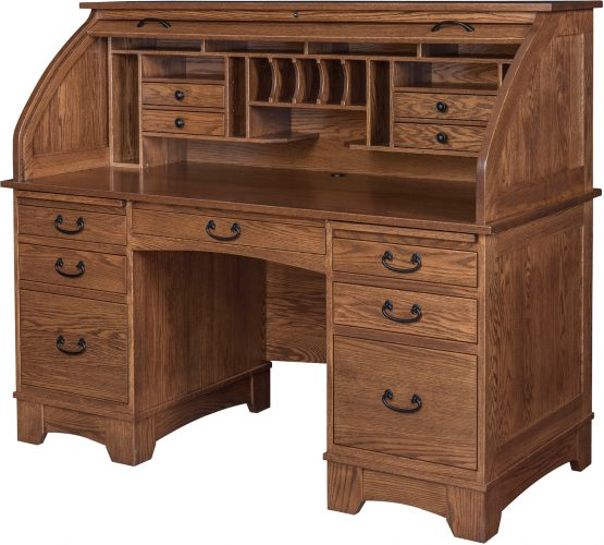 Amish Noble Mission Roll Top Desk