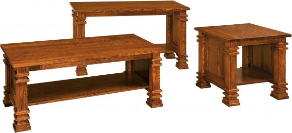 Diamond Wood Occasional Tables