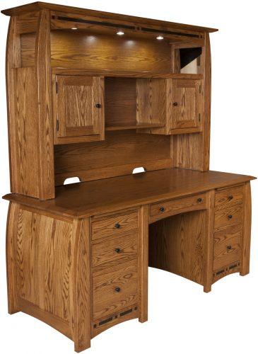 Amish Boulder Creek Desk and Hutch