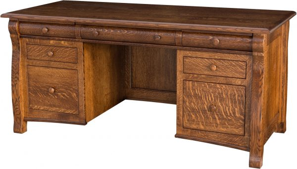 Amish Castlebury Finished Back Desk
