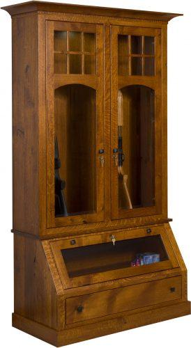 Amish Tribecca Custom Gun Cabinet