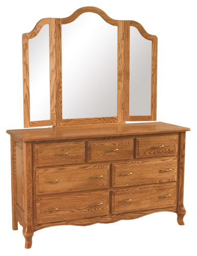 French Country Seven Drawer Dresser
