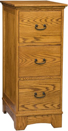 Amish Noble Mission Three Drawer File Cabinet