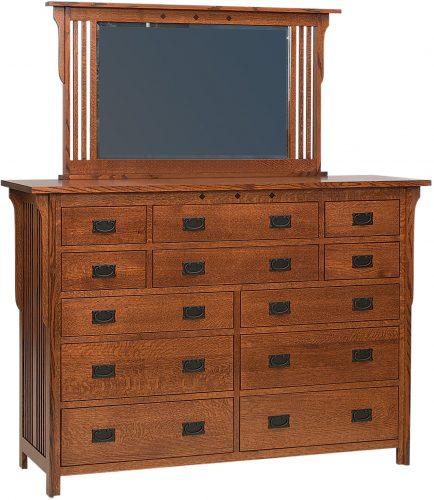 Amish Royal Mission Twelve Drawer Dresser