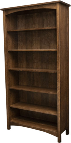 Amish Post Mission Adjustable Shelf Bookcase