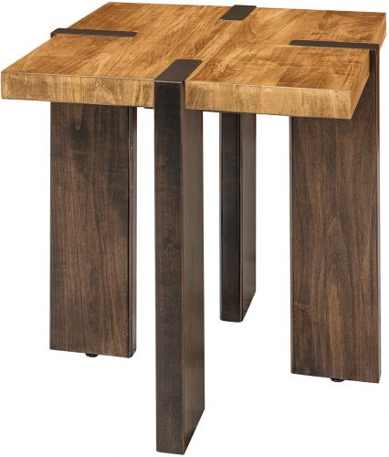 Amish Olympic Two-Tone End Table