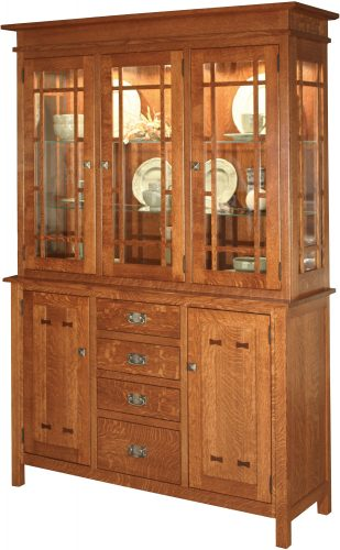 Amish Gettysburg Five Door Hutch