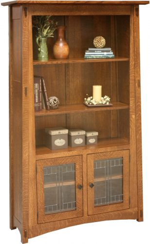 Amish McCoy Bookcase with Doors