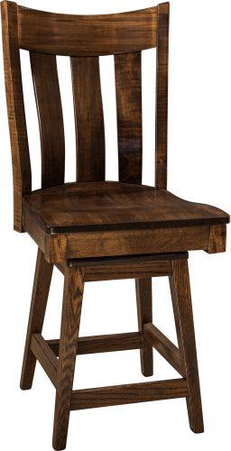 Amish Pierre Hardwood Swivel Bar Stool