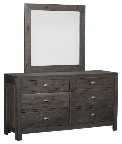 Amish Sonoma 6 Drawer Dresser and Mirror