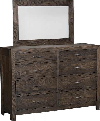 Amish Sonoma Tall Dresser and Mirror