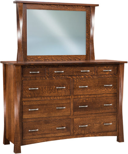 Amish Wide Lexington Nine Drawer Mule Dresser