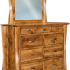 Amish Lexington 9 Drawer Mule Dresser with Mirror