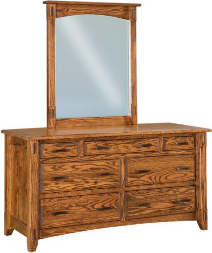 Amish Tacoma Seven Drawer Dresser