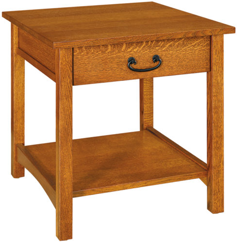 Amish Granny Mission 1 Drawer End Table