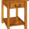 Amish Granny Mission 1 Drawer Narrow End Table