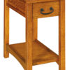 Amish Granny Mission Narrow One Drawer End Table