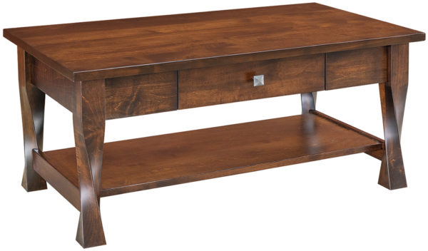 Amish Lexington One Drawer Open Coffee Table