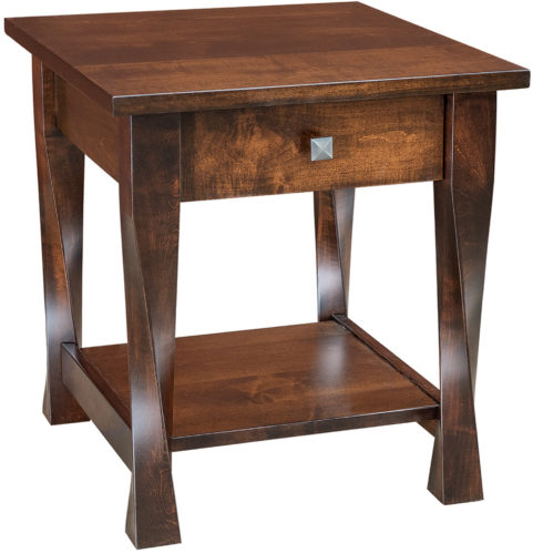 Amish Lexington Wide One Drawer End Table