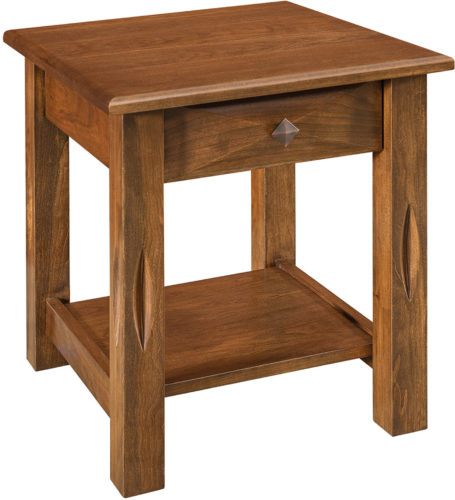 Amish Open Ravena Wide End Table