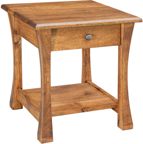 Amish Wide Vandalia Open End Table