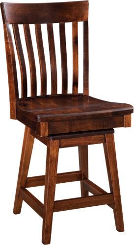 Amish Chandler Hardwood Swivel Bar Stool